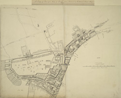 [A copy of part of the Newcourt's map of London]